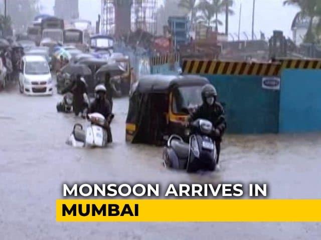 Video : Rain Red Alert In Mumbai As Monsoon Triggers Waterlogging