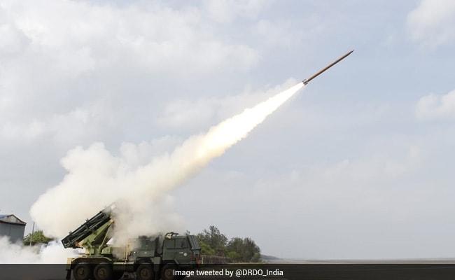 Enhanced Version Of Pinaka Rockets Test-Fired Off Odisha Coast