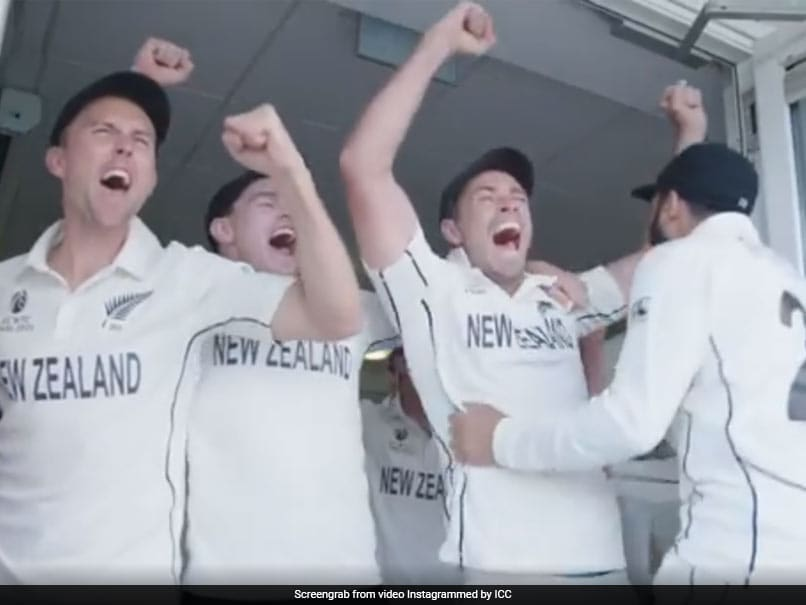 Watch: Inside New Zealands Dressing Room Celebrations After WTC Win