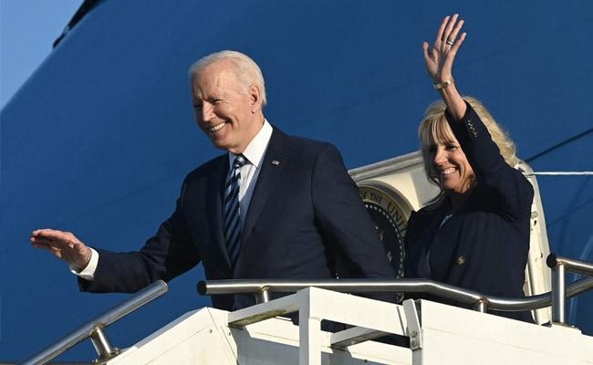 Joe Biden Arrives In UK On First Stop Of Europe Tour