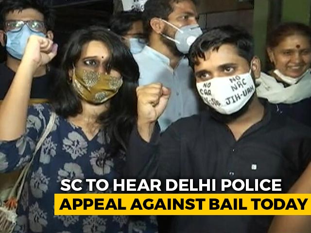 Video : Supreme Court To Hear Delhi Police Appeal Against Student-Activists' Bail Today