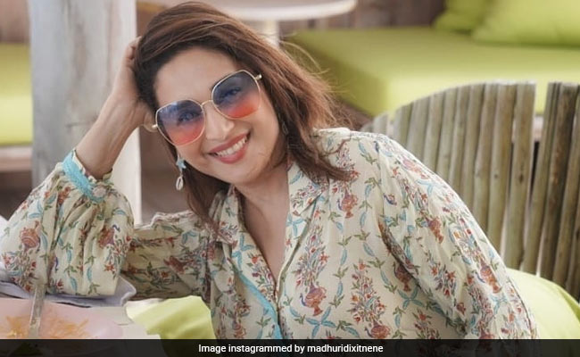 """For Madhuri Dixit, """"Smiling Is Like Free Therapy."""" See Pic"""