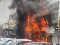 Five Showrooms Damaged In Fire At South Delhi Market