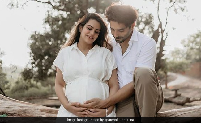 Dad-To-Be Aparshakti Khurana Cradles Wife's Baby Bump In New Picture. See Here