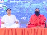 Video : In Haridwar, Ramdev Leads Charge On Yoga Day