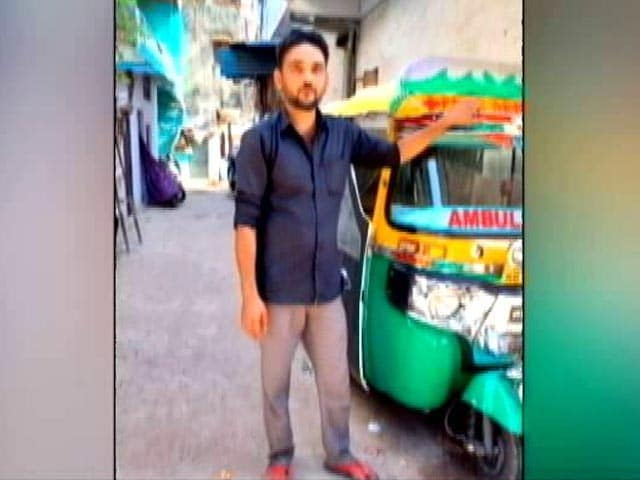 Video : Bhopal Man Converted His Autorickshaw Into Ambulance For COVID Patients