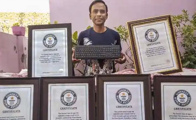 Meet JNU Computer Operator Who Has 9 Guinness Records For Typing Skills