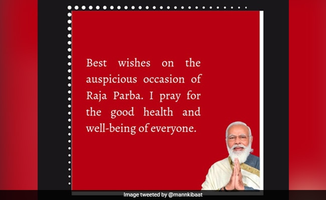 On Odisha's Raja Parba, PM Modi Tweets Greetings