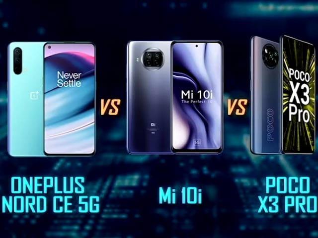 Video : Oneplus Nord CE 5G vs Poco X3 Pro vs Mi 10i: Which Phone Wins?