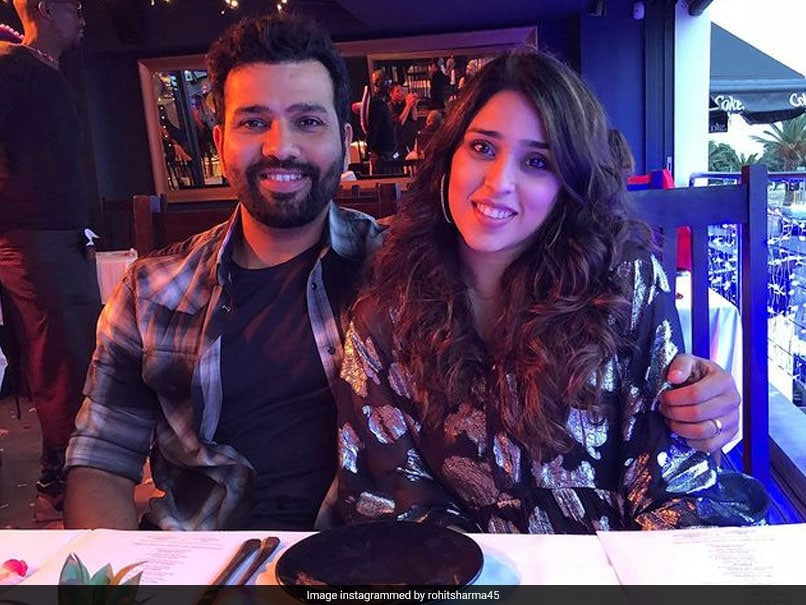 """""""Trying To Watch The Game Or Spy On Us"""": Ritika Sajdeh Pokes Fun At Rohit Sharma"""