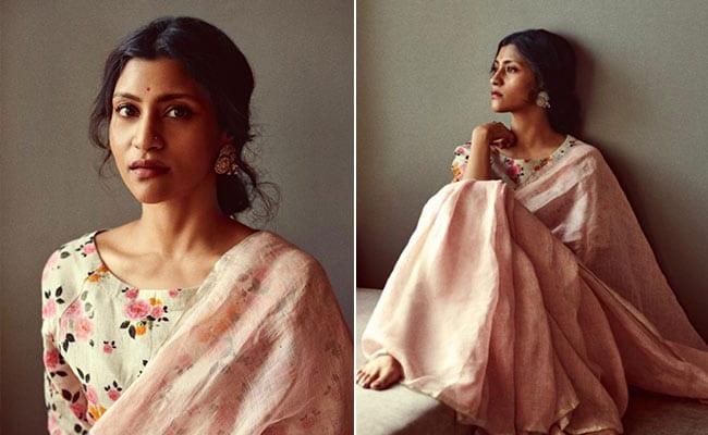 Konkona Sensharma Makes Our Summer Fashion Dreams Come True In A Floral Linen Saree