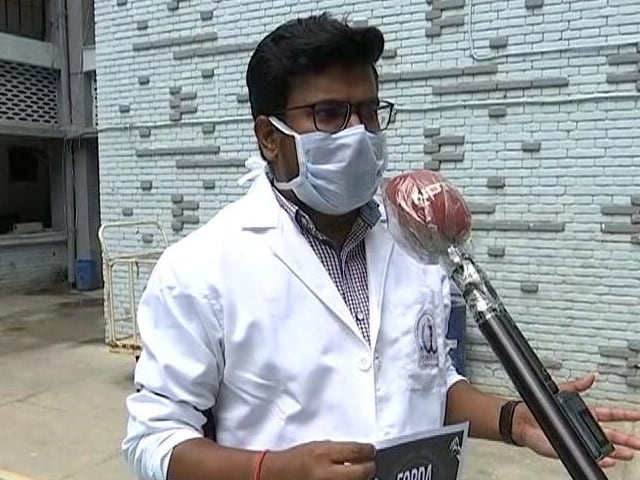 """Video : """"Who Is He?"""": Doctors Mark 'Black Day' Against Ramdev's Allopathy Remarks"""