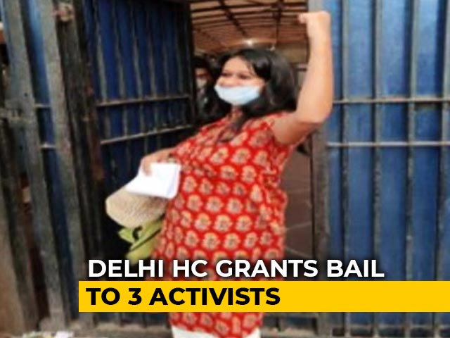 Video : High Court Grants Bail To Pinjra Tod Activists, Jamia Student In Delhi Riots Case