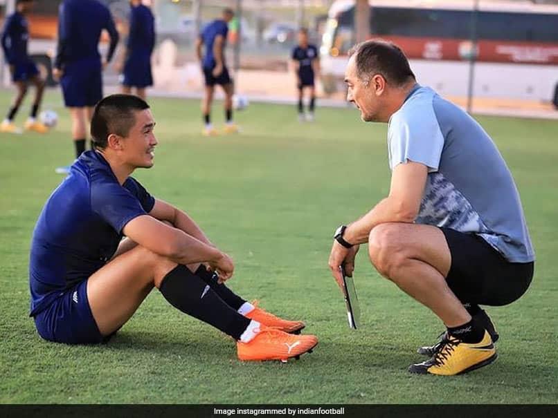 Indian football team head coach Igor Stimac said that 36-year-old goal-machine Sunil Chhetri plays and scores like a 25-year-old.
