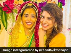 Adorned In Yellow From Head To Toe, Sana Sayyad Looked Brighter Than Sunshine On Her Haldi Ceremony