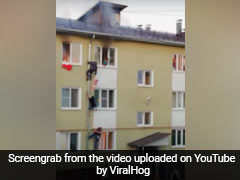 Video: In Heroic Rescue, Russians Climb Pipe To Save Children From Fire