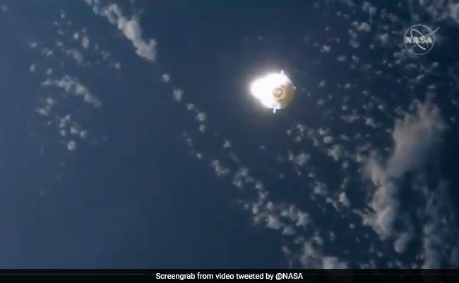 SpaceX Cargo Dragon En Route To International Space Station Seen Flying In Daytime