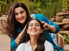It's <i>Champi</i> Day For Sara Ali Khan And Mom Amrita Singh. See Pic