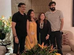 Rana Daggubati Visits Mother-In-Law Bunty Bajaj With Wife Miheeka