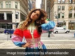 Shama Sikander Makes Summer Look More Colourful With Her Rainbow Dress