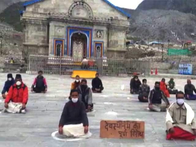 Video : Kedarnath Priests Continue Sit-In Protest To Disband Devasthanam Board