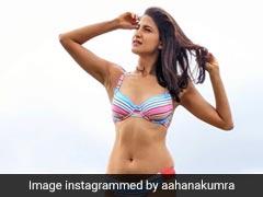 "With A Hint Of ""Sass"", Aahana Kumra's Multicoloured Bikini Sums Up Stylish Monsoon Days"