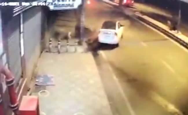 Caught On CCTV, E-Rickshaw Driver, Woman Killed By Speeding Car In Delhi