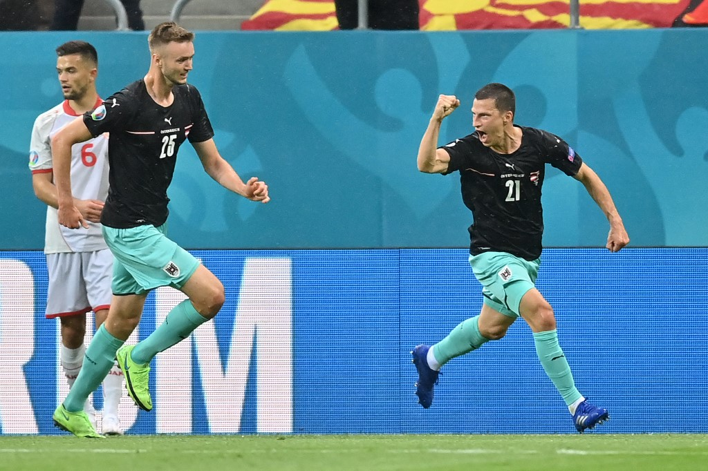 Euro 2020: Austria See Off Debutants North Macedonia To Secure First Ever Euro Win