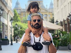 """Arjun Rampal Spends """"Quality Time"""" With Son Arik And Girlfriend Gabriella In Budapest"""