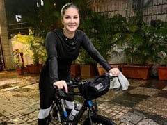 Sunny Leone Shares Glimpses Of Her Cycling Session With Daniel Weber