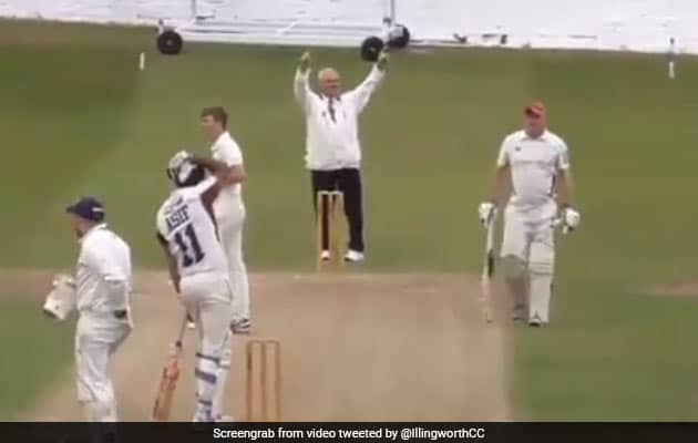 Watch: Cricketer Hits A Six But It Ends In Disaster For Him