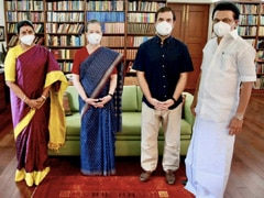 Tamil Nadu Chief Minister MK Stalin Meets Sonia Gandhi, Son Rahul In Delhi