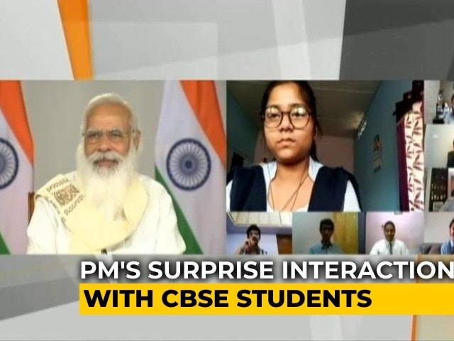 """Video : """"You Seem Overjoyed"""": PM Modi Joins CBSE Session With Students, Parents"""