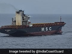 Indian Coast Guard Rushes To Help Container Ship On Fire In Indian Ocean
