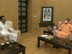 "Jitin Prasada Meets UP Chief Minister Yogi Adityanath, Seeks ""Blessings"""