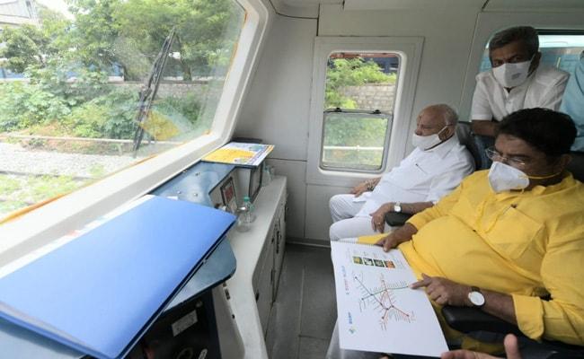 BS Yediyurappa Takes A Ride On Bengaluru Suburban Railway. What He Said