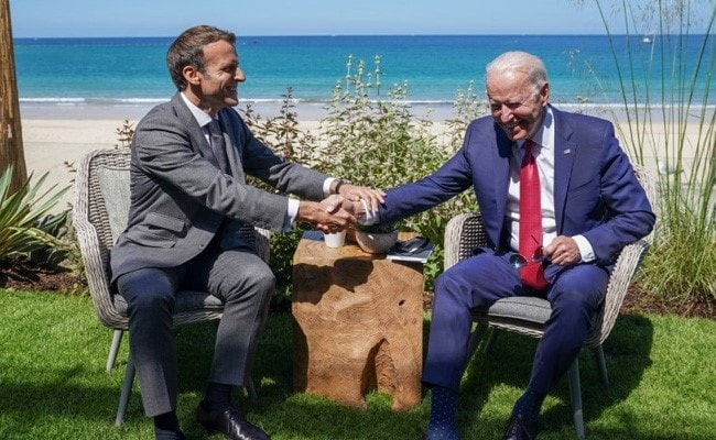 America Is Back Under Biden - France's Emmanuel Macron