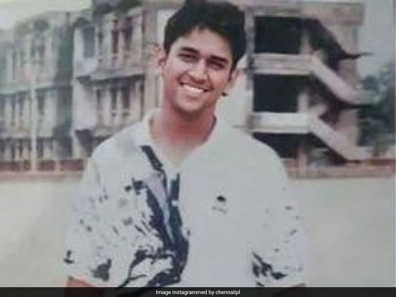 """CSK Post MS Dhoni Throwback Picture As """"Fashion Icon In Youth"""". Heres How He Looked Then"""