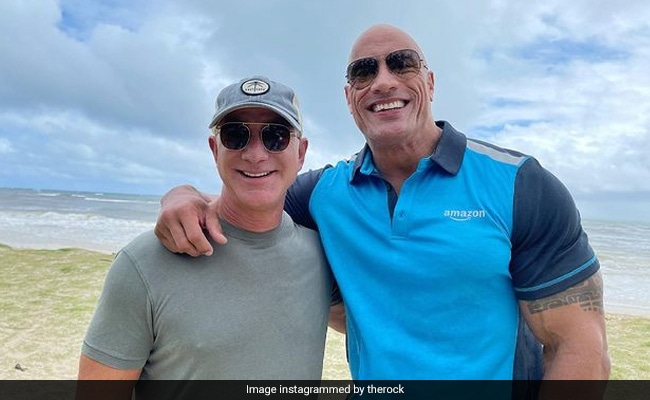 In This Pic Of Dwayne Johnson And Jeff Bezos – One Went To Princeton, The Different…