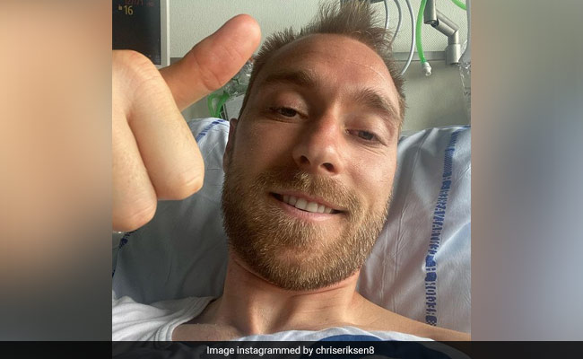 Denmark hero Christian Eriksen shares picture from his hospital bed in Copenhagen amid more tests