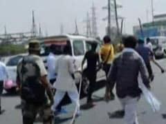 BJP Workers, Protesting Farmers Clash At Ghazipur Border Near Delhi