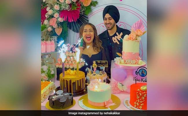 Inside Neha Kakkar's Birthday Bash. See What She Wrote For Her 'Prince Charming' - Husband Rohanpreet Singh