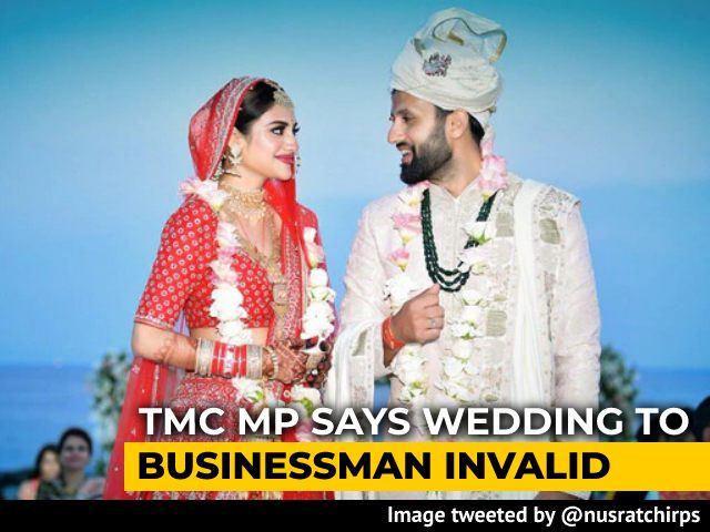 "Video : Nusrat Jahan, Trinamool MP, Says Marriage ""Not Legal, Valid And Tenable"""