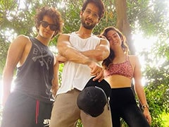 """This """"Dream Team"""" is Family-Only: Mira Rajput, Shahid Kapoor And Ishaan Khatter"""