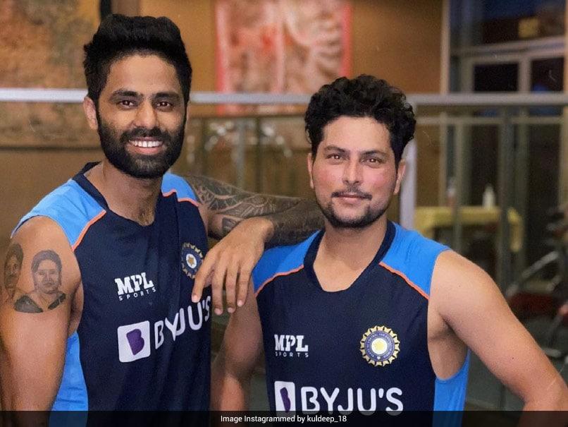 "KKRs Kuldeep Yadav, Suryakumar Yadav ""Reunited"" At Team Indias Bio-Bubble"