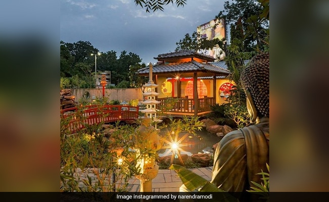PM Modi Shares Stunning Pics Of Zen Garden In Ahmedabad