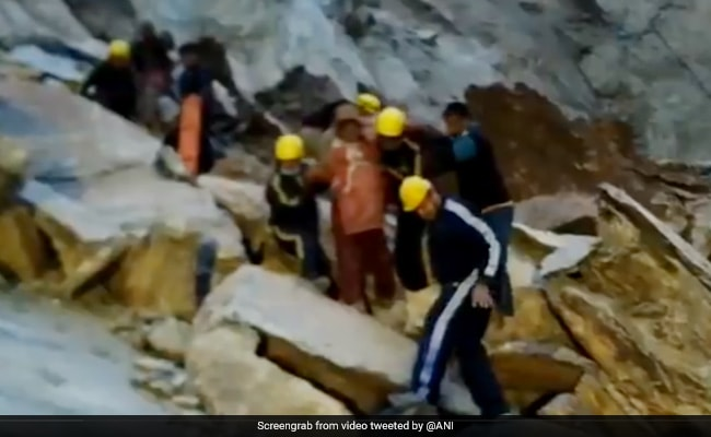 Watch: Pregnant Woman, Stuck Behind Boulders After Landslide, Rescued