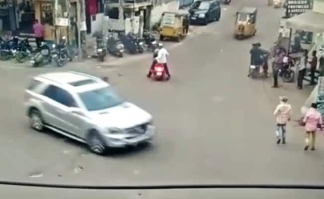 Mercedes SUV Runs Over Pedestrian, Rams Vehicles In Hyderabad; One Killed