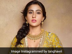 Sara Ali Khan Is An Ethnic Princess Straight Out Of A Dream In Her Mustard Yellow <i>Lehenga</i>