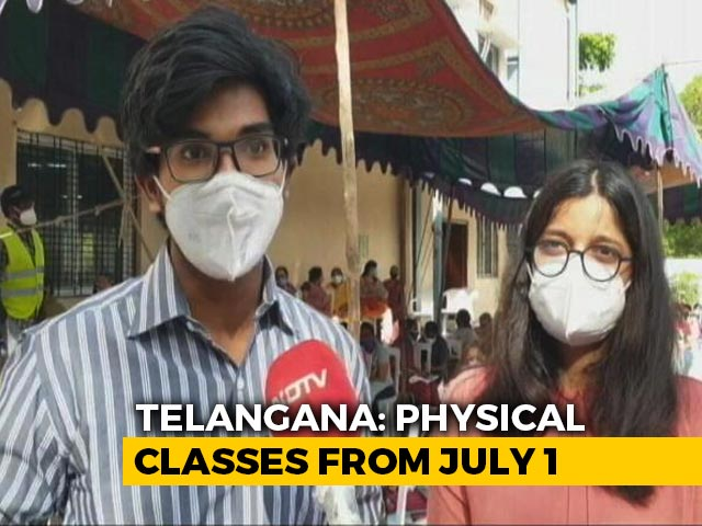 Video : Telangana To Resume Offline Classes From July 1